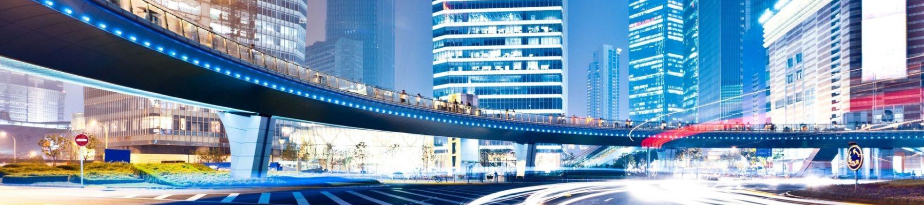 City Building Night Movement